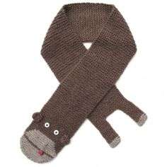 kids monkey scarf by amy bahrt