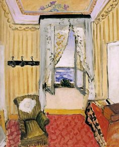 "Henri Matisse. "" My Room at the Beau-Rivage"" A beautiful interior and color palette for that matter. Love!"