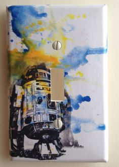 R2D2 Star Wars Art Room Decor Decorative Light Switch Plate Cover. $12.00, via Etsy.