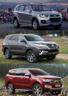 So sánh Ford Everest 2017 với Toyota Fortuner 2017 và Chevrolet Captiva 2017