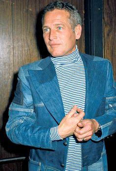 """Paul Newman, c. 1970s"" Oh those beautiful blue eyes!"