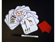 Mazací kartičky - číslice .