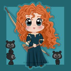 Chibi Merida by *Jennifairyw on deviantART