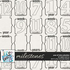 Year of Firsts: Milestones