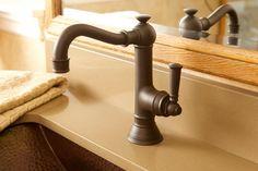 Newport Brass Jacobean Lavatory Single Hole Bathroom Faucet with Drain Assembly Finish/Colour: Satin Brass Brass Bathroom, Vessel Sink Bathroom, Widespread Bathroom Faucet, Lavatory Faucet, Concrete Bathroom, White Bathrooms, Luxury Bathrooms, Master Bathrooms, Dream Bathrooms