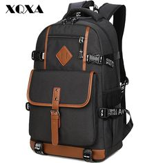 9b7e67f185c XQXA Style Oxford Backpack Men Casual Dayback Backpack School Bag for  Teenagers Computer Mochilas High Quality