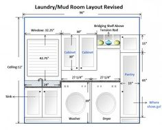 Laundry Room Layout Ideas - like the tall pantry cupboard