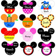Personalized Disney Character Inspired Printable (stroller tag, scrapbooking, iron on transfer, etc.). $3.50, via Etsy.