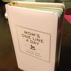 My new journal. There's an entry for each day lasting five years- a great way to remember all the little things that Peanut does during his/her first years :)