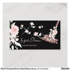 Making A Business Plan, Business Card Size, Business Card Design, Christmas Card Holders, Christmas Cards, Cleaning Business Cards, Client Gifts, Zazzle Invitations, Clean House