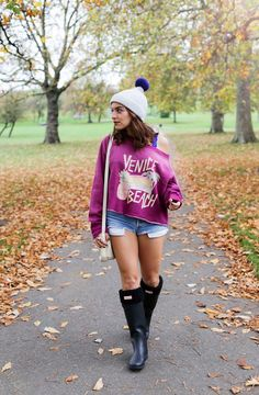 This Wildfox venice rainbow sweater had to be the cutest jumper I've ever owned! #london #autumn #boots #blogger More details in my blog: http://www.whitneyswonderland.com/2015/11/wildfox-venice-sweater-and-hunter.html