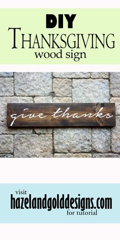 Click here to find out how I made this Give Thanks wood sign, and how you can make one too. I also sell them if you'd rather order one than make one.