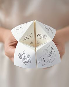 Calligraphed cootie catchers