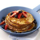 (use homemeade buckwheat mix) Coconut and Berry Pancakes - Coles Recipes & Cooking