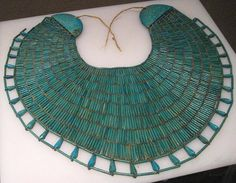 Egyptian Collar Broad Collar Egyptian Necklace from the 12th Dynasty.