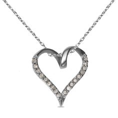 Ebay NissoniJewelry presents - Ladies 0.10 CT 10k Heart Pendant with Complimentary 18 chain    Model Number:PV4253B-W055    http://www.ebay.com/itm/Ladies-0.10-CT-10k-Heart-Pendant-with-Complimentary-18-chain/321658086156