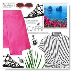"""""""Capri Travel Outfits"""" by ucetmal-1 ❤ liked on Polyvore featuring Gucci, T By Alexander Wang, Maiyet, Salvatore Ferragamo, Italy, capri and outfitsfortravel"""