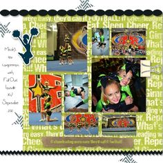 If Cheerleading were easy... by Kelly Birrell  Cheer layout I created using the awesome cheer kit by Imagination at Design House Digital! http://www.designhousedigital.com/digital-scrapbooking-kit/imagine-nation/cheerleader-complete-kit