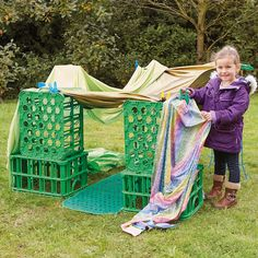 7 ways to use creative crates - TTS Inspiration Eyfs Activities, Outside Activities, Indoor Activities For Kids, Creative Activities, Outdoor Activities, Summer Activities, Physical Activities, Family Activities, Forest Classroom