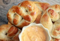 Easy, SOFT and Yummy Homemade Pretzels with 2 dipping sauce recipes