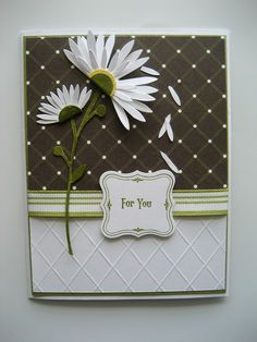 Idea - love the embossing & the flowers too.