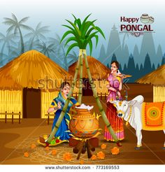Illustration about Easy to edit vector illustration of Happy Pongal festival of Tamil Nadu India background. Illustration of pongal, hindu, indian - 105791424 Happy Pongal In Tamil, Pongal Wishes In Tamil, Happy Pongal Wishes, Diwali Wishes, Pongal Photos, Pongal Images, Pongal Festival Images, Diwali Photos, Pongal Greeting Cards