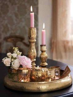 Beautiful pink & gold