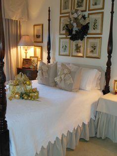 """In Our Master Bedroom"""" Cosy Bedroom, Bedroom Red, Bedroom Colors, Home Decor Bedroom, Master Bedroom, Bedroom Linens, Christmas Bedroom, Traditional Bedroom, Guest Bedrooms"""