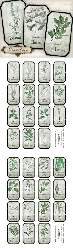 "Printable Shabby Herbal Labels by <a href=""http://VectoriaDesigns.deviantart.com"" rel=""nofollow"" target=""_blank"">VectoriaDesigns.d...</a> on @deviantART"