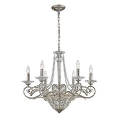 La Flor Nine-Light Chandelier in Sunset Silver