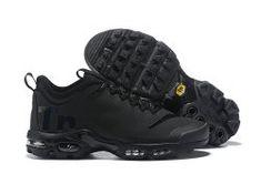 39323364be Beautiful Nike Air Max Plus Mercurial TN Triple Black AQ0242 001 Men's  Running Shoes Sneakers Mens