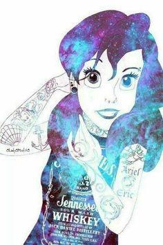 Punk Disney: My favorite Goth Disney, Ariel Disney, Disney Punk Edits, Punk Disney Princesses, Dark Disney, Disney Love, Disney Art, Disney Characters, Creepy Disney