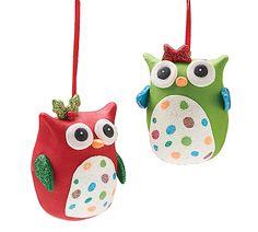 WHOOOO will you give this owl ornament to for Christmas? #burtonandburton #owls