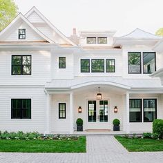 Come Visit Our Coastal Living Showhouse In Sag Harbor It S Open To The Public All White House Exteriorsblack Trim Exterior
