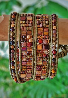 ANTIQUITY   4 Wrap Olive Leather Bracelet by BraceletsofBlueRidge