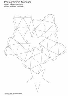 pentagrammic antiprism -- and more paper models of polyhedra Diy Gift Box, Paper Gift Box, Paper Crafts Origami, Paper Crafting, Carton Diy, 3d Templates, Origami And Kirigami, Oragami, Packaging