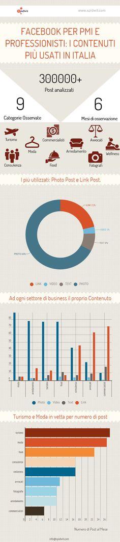 L'uso di Facebook da parte di PMI e professionisti in Italia. Lo studio di Spidwit #facebook #stats