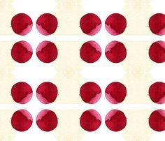 Red Ball watercolor fabric