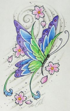 butterfly tattoo Butterfly Tattoo's butterfly tattoo Fantasy flowers with butterfly butterfly tattoo Feathered Butterfly butterfly tattoo Fr. Butterfly Drawing, Butterfly Wallpaper, Butterfly Design, Butterfly Tattoos, Art Sketches, Art Drawings, Butterfly Pictures, Beautiful Butterflies, Fabric Painting
