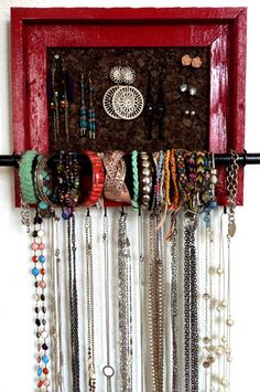 8x10 Custom PAINTED Jewelry Organizer by AfterTheLeavesFall, $47.00