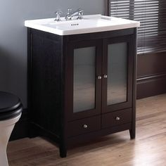 Esteem Vanity Unit - Esteem has a charming country house feel with a choice of finishes in Natural Oak or the darker Wenge. The vanity unit comes with two handy drawers and a choice of doors in solid wood or with frosted glass inserts. Imperial Bathrooms, Vanity Units, Wood Doors, Frosted Glass, Bauhaus, Solid Wood, Drawers, The Unit, House