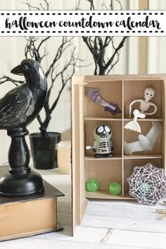 Make a spooky and fun Countdown Calendar Halloween Decoration with the easy DIY from Everyday Party Magazine. #HalloweenDecorations #CountdownCalendar #CricutMade