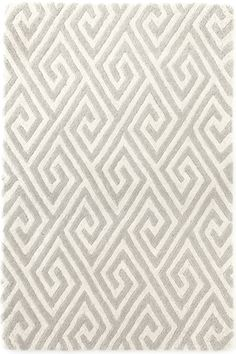 Fretwork Grey Tufted/Carved Wool Rug