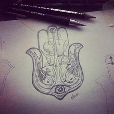 Diseñando la mano de Fatima para Cami