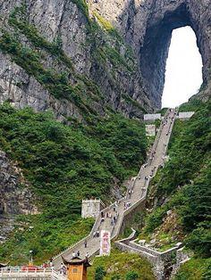 Heaven's Gate Stairs, Zhangjiajie, China.