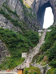 Heaven's Gate Stairs, Zhangjiajie, China.
