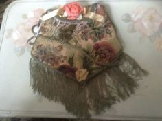 Victorian olive green tapastry purse with green by cindysvictorian