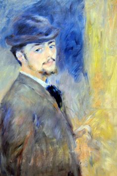 Pierre Auguste Renoir - Self Portrait 1876 at Harvard Art Museum Cambridge MA Pierre Auguste Renoir, Claude Monet, August Renoir, Renoir Paintings, Harvard Art Museum, Post Impressionism, Contemporary Abstract Art, Impressionist Paintings, Paul Gauguin