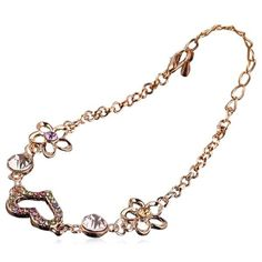 Romantico - 3 Variants Crystal Gold Anklet