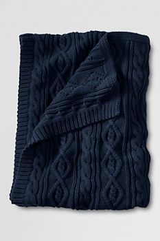 Lakeland Cotton Cable Throw from Lands' End